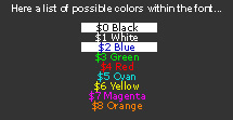 Crysis colour codes