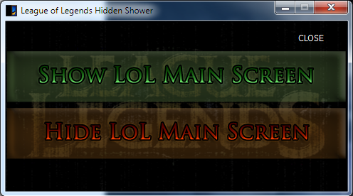 League of Legends Lobby / Stats Hidden Shower